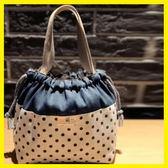 618大促 原創日韓風環保帆布可愛時尚手提抽繩束口飯盒袋便當包收納袋 百搭潮品