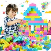兒童顆粒塑料益智拼裝積木1-2幼兒園7-8-10男女孩寶寶玩具3-6周歲