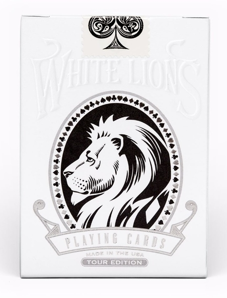 【USPCC撲克】White Lions Tour Black REVERSE Playing Cards
