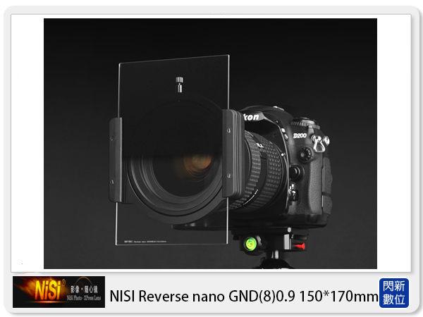 【24期0利率,免運費】NISI 耐司 Reverse nano GND8 0.9 反向 方形 漸層鏡 150x170mm(減三格)ND8