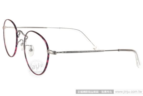 NINE ACCORD 光學眼鏡 PLACO FL1 C06 (紫琥珀-銀) 文青風極簡圓框款 # 金橘眼鏡