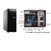 Lenovo ST250 (7Y45A00YCN) 3.5吋熱抽直立式伺服器【Intel Xeon E-2124G / 8GB / 支援Raid-0/1/5 / 550W / 三年保】