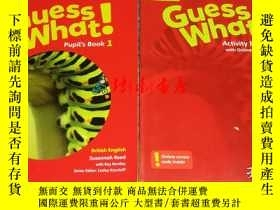 二手書博民逛書店Guess罕見What!(Activity Book1、Pupi