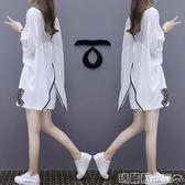 運動裝 洋氣棉麻短褲套裝歐洲站夏季女裝寬鬆顯瘦休閒氣質兩件套   瑪麗蘇