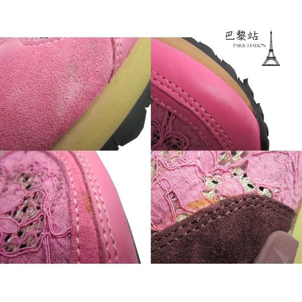 【巴黎站二手名牌專賣店】*現貨*VALENTINO 范倫鐵諾 真品*粉色簍空蕾絲造型運動鞋(39號)