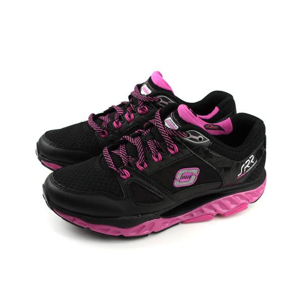 SKECHERS SRR系列 慢跑鞋 運動鞋 女鞋 黑色/桃紅 88888037BKHP no817
