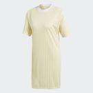 ADIDAS TREFOIL 女裝 短袖 長版上衣 洋裝 休閒 連身裙 黃 【運動世界】 CE5588