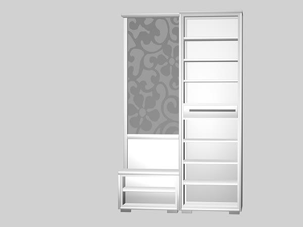 【南洋風休閒傢俱】組合櫃系列 -玄關櫃 碗櫥櫃 電視櫃 鞋櫃 明日香4尺白色屏風櫃-全組(JH550-4)