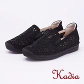 kadia.雕花素雅水鑽高休閒鞋(9013-98黑色)