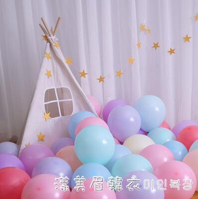 兒童生日派對網紅拱門馬卡龍色卡通加厚氣球寶寶周歲裝飾場景布置 美眉新品