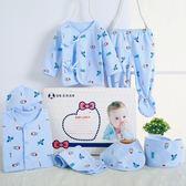 全館免運八折促銷-春夏天嬰兒衣服上衣 褲子0至3個月新生兒全棉內衣套裝寶寶禮盒裝