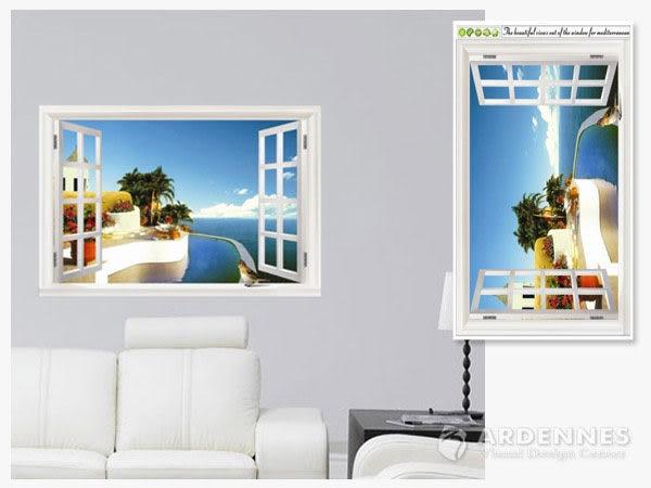 【ARDENNES】創意組合DIY壁貼/牆貼/兒童教室佈置/可重複貼 窗邊海景