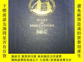 二手書博民逛書店RULES罕見AND REGULATIONS 1946-47 規
