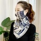 防曬面紗遮全臉夏季開車掛耳遮臉戶外女臉罩遮陽護頸面罩【步行者戶外生活館】