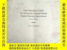 二手書博民逛書店line罕見coincidence tables for inductively coupled plasma a
