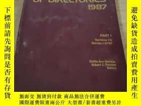 二手書博民逛書店THE罕見DIRECTORY OF DIRECTORIES 19