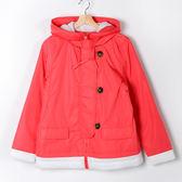 【MASTINA】拼色立領風衣外套-粉色  外套限時特賣