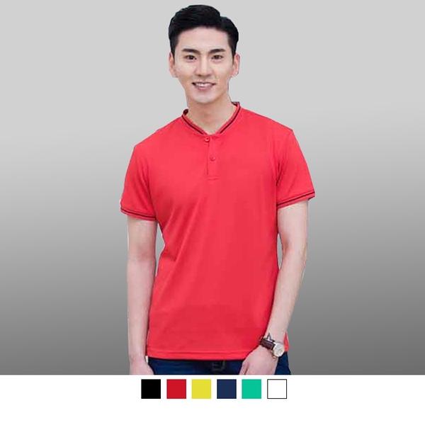 【晶輝團體制服】P2220*短袖素面立領拉錬配色袖口頂級短袖POLO衫/可訂做加LOGO/一件也可以買