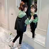 女童秋冬加絨加厚外套風衣秋裝2020新款洋氣兒童中大童春秋沖鋒衣 雙十二全館免運