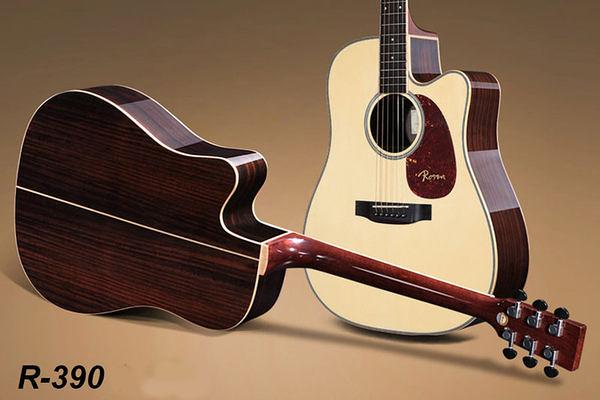 小叮噹的店 - 全新ROSEN R-390 41吋 木吉他 指彈吉他 Fingerstyle A級西堤卡雲杉