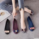 魚嘴涼鞋 平底果凍單鞋女時尚簡約多色魚嘴防水雨鞋防滑孕婦沙灘鞋2020新款 自由角落