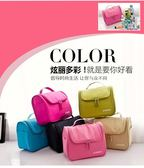 化妝包大號手提洗漱包便攜旅行化妝箱簡約化妝品收納包六色可選