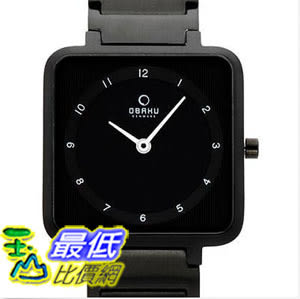 [美國直購] 女錶 OBAKU HARMONY LADIES BLACK STAINLESS STEEL & STRAP QUARTZ WATCH v139lbbsb