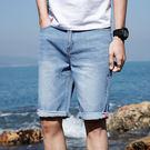 潮流時尚日式街頭素色百搭休閒牛仔短褲