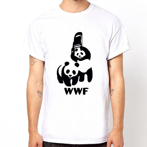 Panda Fight短袖T恤-3色 熊貓打架 趣味 幽默 設計 潮流 動物 貓熊