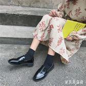 英倫風復古樂福鞋 女2019春秋季新款百搭學生平底小皮鞋單鞋子 BF22305『寶貝兒童裝』