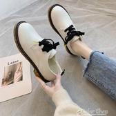 女鞋新款秋鞋小皮鞋新款百搭繫帶圓頭英倫風復古休閒鞋單鞋子 雙12購物節