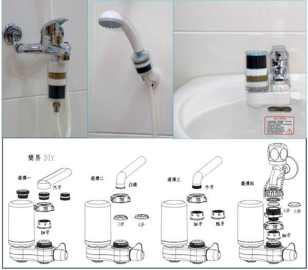 【巡航淨水】除氯蓮蓬頭加量型沐浴器Y1*6支+除氯蓮蓬頭標準型沐浴器Y2*3支+.淨水器.貨號:061