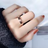 今蓓食指戒指女時尚簡約素圈彩金情侶對戒男尾戒ins冷淡風小CK潮 城市科技