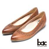 ★2018春夏新品★bac  秀氣典雅時尚品味尖頭平底鞋(棕色)