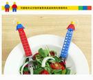 韓國OXFORD 樂高積木不鏽鋼湯叉組 兒童餐具 里和家居