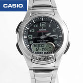 CASIO卡西歐 黑銀雙顯時尚手錶【NEC20】
