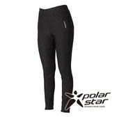 PolarStar 女 針織彈性合身保暖褲 『黑』P15430