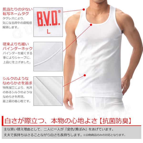 【GN315 細肩 L號】日本BVD精紡交撚紗系列 圓領細肩背心內衣 100%天然棉 日本製造