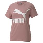 PUMA CLASSICS 女款粉色經典LOGO短袖上衣 -No.59761816