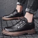 2020新款男鞋秋季工作休閒小皮鞋英倫馬丁靴潮鞋百搭黑色冬季