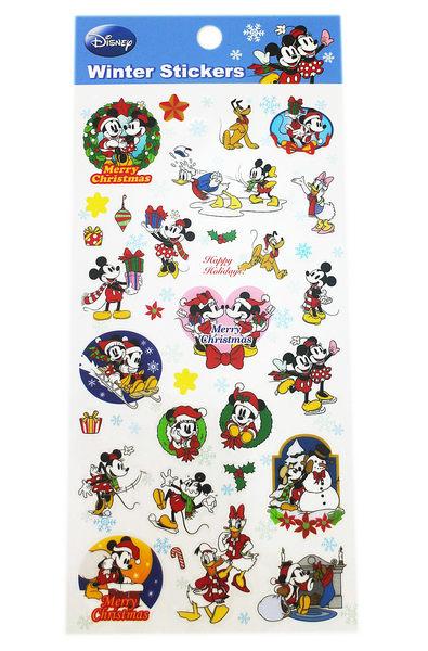 【卡漫城】  米奇 耶誕 貼紙 ㊣版 Mickey 米老鼠 米妮 聖誕節 裝飾 造型 禮物 卡片 唐老鴨 高飛狗