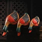 泰國創意木質喝水鴨子辦公家居柜子擺設裝飾 客廳裝