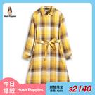 【今日爆殺】Hush Puppies 女裝經典腰綁帶格紋寬鬆版洋裝