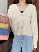 毛衣外套 寬松外穿V領慵懶風上衣女秋冬2020年新款韓版針織開衫毛衣外套女 風馳