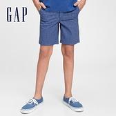 Gap男童 可愛直筒休閒褲 682043-藍色