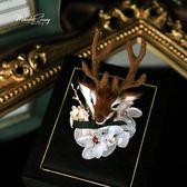 聖誕節胸針高檔 女 外套別針開衫 韓國 奢華 大氣麋鹿胸花配飾 電購3C