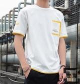 純棉男士短袖t恤夏季簡約體恤男生潮流寬松上衣【左岸男裝】