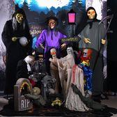 萬圣節恐怖道具整人發光玩具聲控擺件