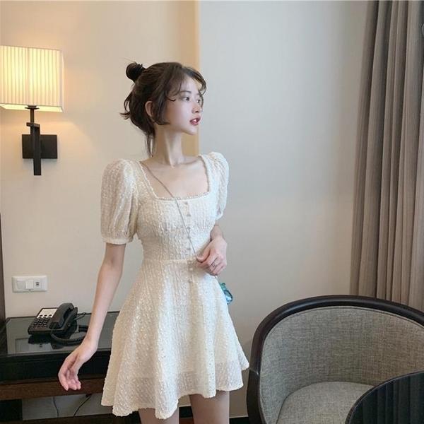 一字肩洋裝 2020夏季新款法式智熏桔梗裙子仙女超仙森系氣質顯瘦輕熟風洋裝 果果生活館