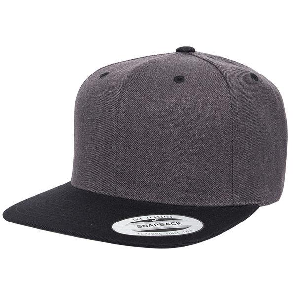 YP BASICS Claasic Wool Snapback Two Tone 後扣棒球帽 深麻灰/黑 鴨舌帽  帽子 拼接 撞色 街頭/百搭